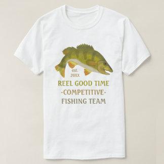 Fishing Team Tournament Custom Angler Bass Fish T-Shirt