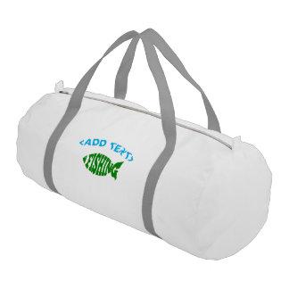 Fishing Text Gym Bag