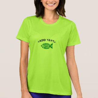 Fishing Text T-Shirt