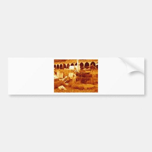 fishing & the beach (brighton 07) bumper sticker
