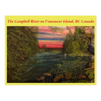 Fishing the Campbell River; BC Fishing. Postcard