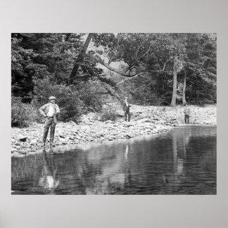 Fishing the Catskills: 1890 Poster