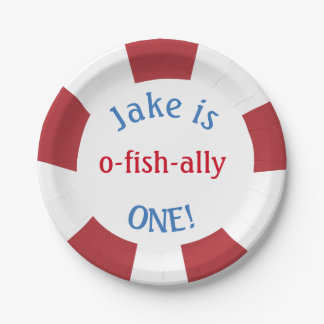 Fishing Themed Plates for Birthday