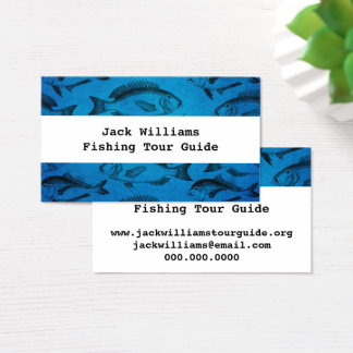 Fishing Tour Guide Outdoor Guide Business Card
