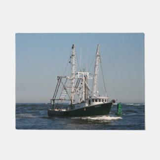 Fishing Trawler at Sea Doormat