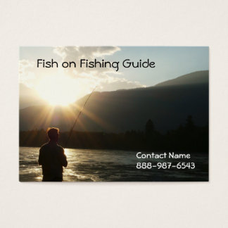 Fishing until the Sun Goes Down Business Card