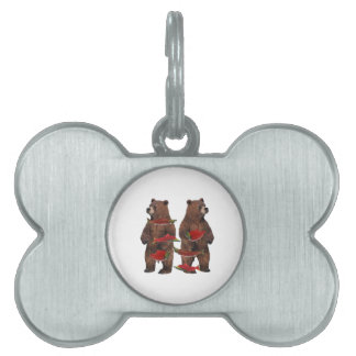 Fishing Upstream Pet Tag