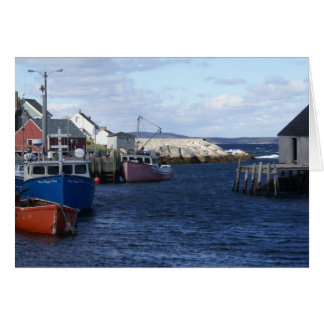 Fishing Village at Peggy's Cove Card