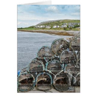 Fishing Village. Card