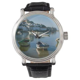 Fishing Village of Ferragudo, Algarve, Portugal Wrist Watch