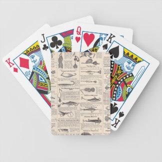 Fishing Vintage Advertising Newsprint Poker Deck