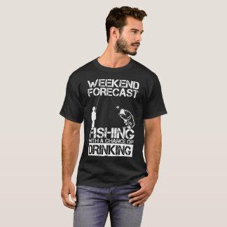 Fishing Weekend Forecast Drinking T-Shirt