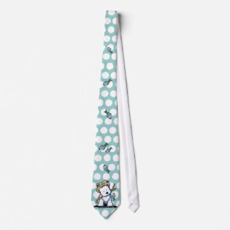 Fishing Westie Neck Tie