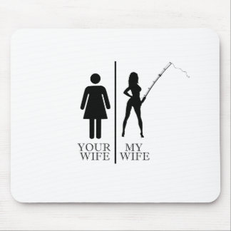 Fishing Wife Mouse Pad