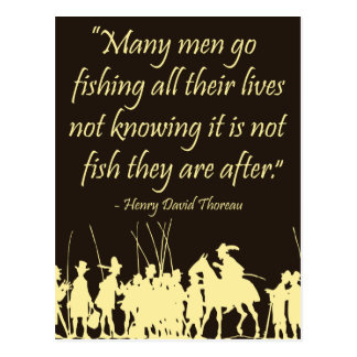 Fishing wisdom - Henry David Thoreau Quote Postcard