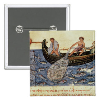 Fishing with a Net 2 Inch Square Button