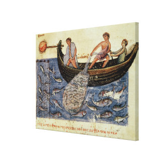 Fishing with a Net Canvas Prints