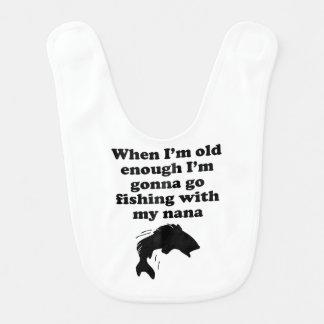 Fishing With My Nana Bib