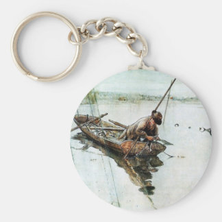 Fishing with Nets 1905 Basic Round Button Keychain