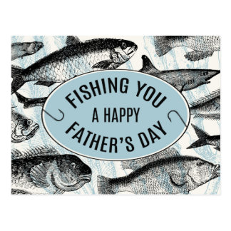 Fishing You A Happy Father's Day Postcard