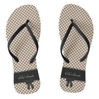 Fishnet bachelorette flip flops