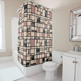 Fishnet & Leather Pattern Shower Curtain
