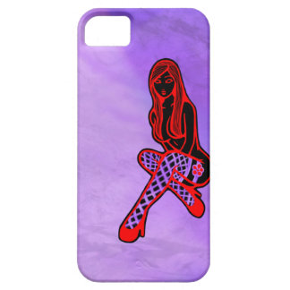 Fishnets and Flower Pin-Up (Purple Haze) iPhone 5 Case