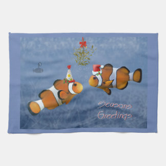 Fishy Christmas Kitchen Towel