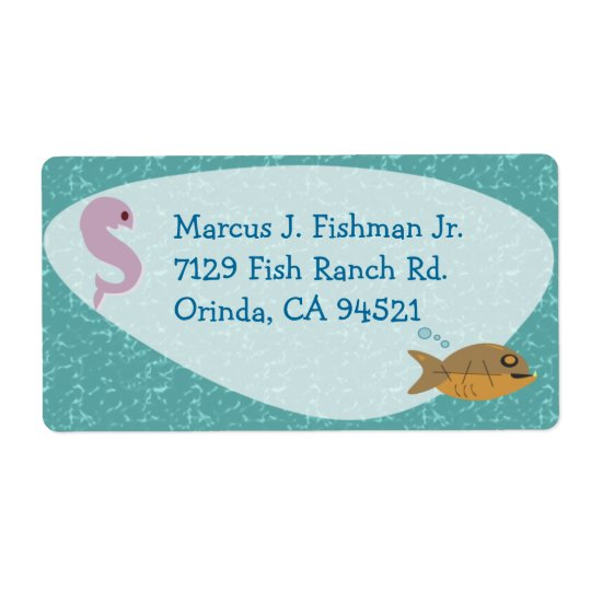 Fishy Fifties Label Shipping Label