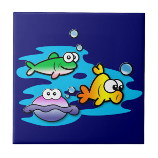 Fishy Friends Ceramic Tiles