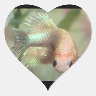 Fishy Girl Stickers! Heart Sticker