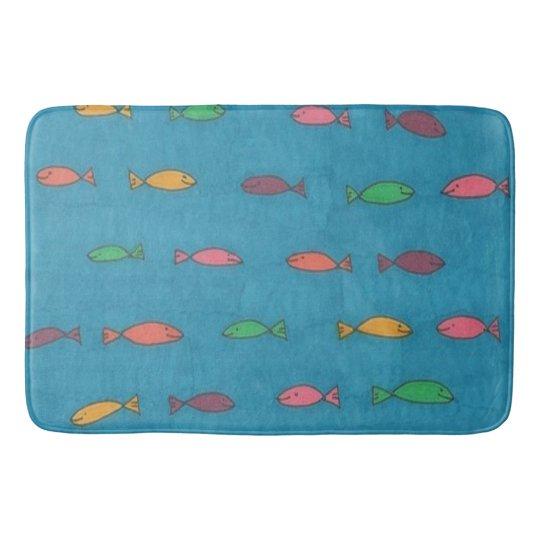 Fishy Pattern Bath Mat