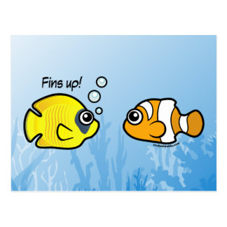 Fishy Robbery: Fins up! Postcard