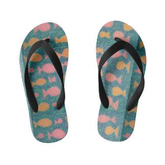 Fishy Tropical Flip Flops