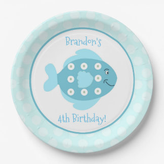Fishy Under the Sea Custom Paper Plate 9 Inch Paper Plate