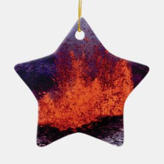 fissure of lava crack ceramic ornament