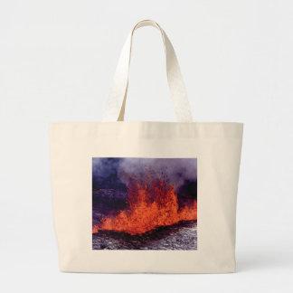 fissure of lava crack large tote bag