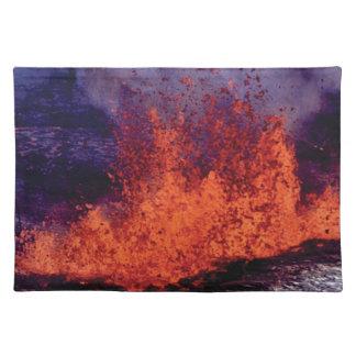 fissure of lava crack placemat