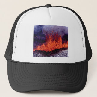fissure of lava crack trucker hat