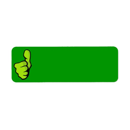 fist-160957 fist thumb finger top great green posi return address label