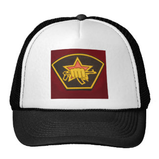 fist and red star trucker hat
