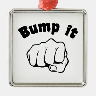 Fist Bump It Metal Ornament
