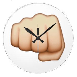 Fist - Emoji Large Clock