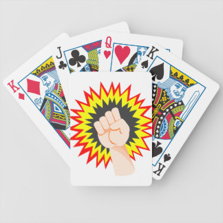 Fist Hand Strength Arm Power Energy Punch Bicycle Playing Cards