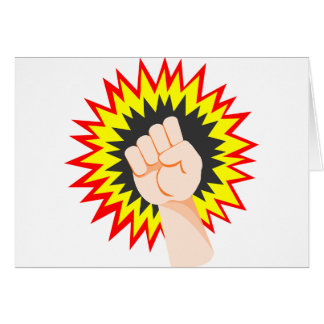 Fist Hand Strength Arm Power Energy Punch Card
