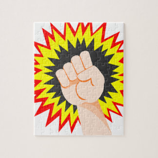 Fist Hand Strength Arm Power Energy Punch Jigsaw Puzzle