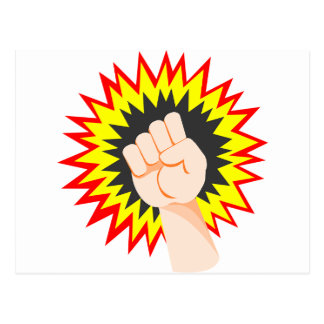 Fist Hand Strength Arm Power Energy Punch Postcard