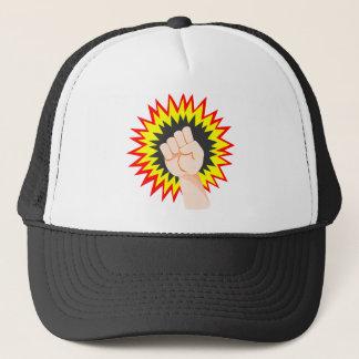 Fist Hand Strength Arm Power Energy Punch Trucker Hat