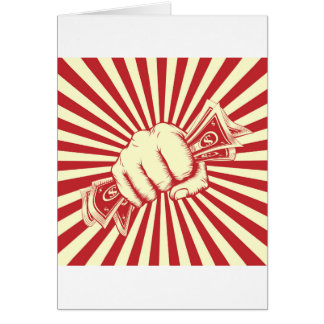 Fist Holding Cash Card