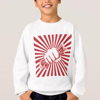 Fist Holding Cash Sweatshirt